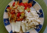Kuskus tofu zelenina
